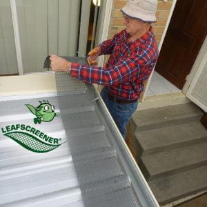 Plastic leaf gutter mesh DIY