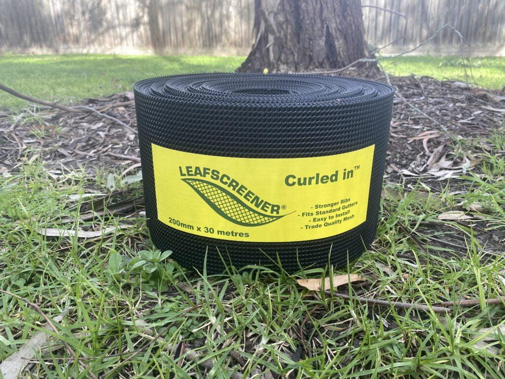 Black Curled In™ gutter mesh