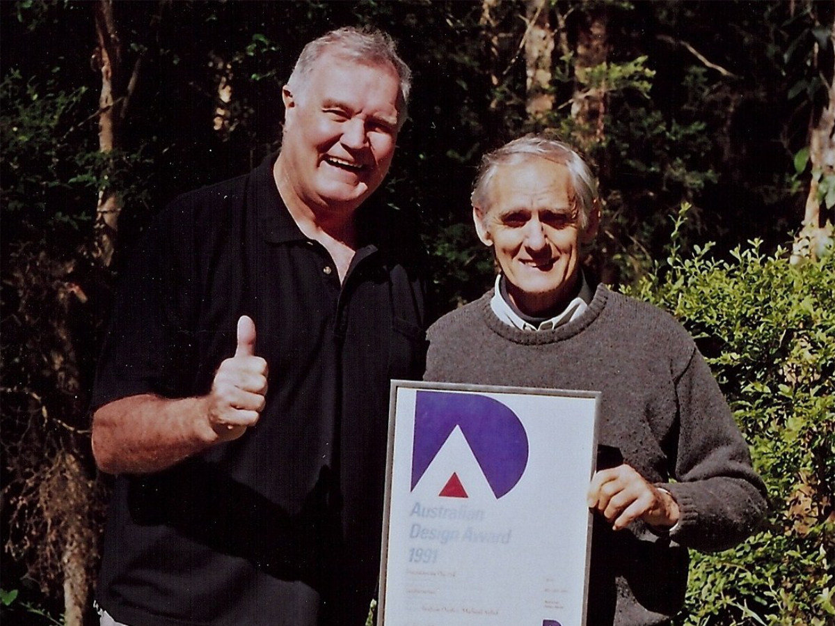 Peter Whittle from Leafscreener®️ with Michael Sichel, inventor of the ski-slope style leaf guard system.